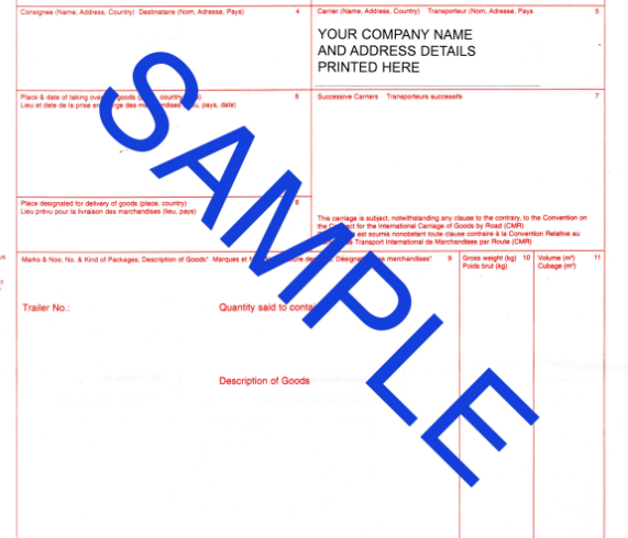 What is CMR document? Download sample here. ⋆ FREE Online Shipping ...